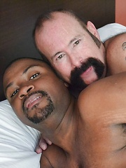 Smoking Hot Interracial Daddy-Son, Bear And Cub Scene