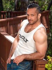 Strong gay model Adam Champ