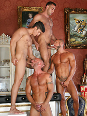 Muscle gays blowjob orgy