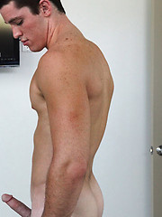 Hot muscle stud Tristan showing his cock