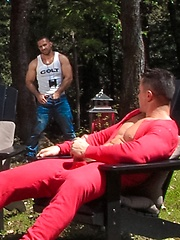 Adam Champ and Trenton Ducati outdoor sex