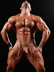 Hot latino bodybuilder naked