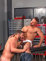 Locker room cock sucking