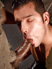 Black cock drills gay ass