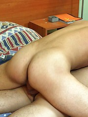 Hot-assed gay guy getting ass pounded from behind