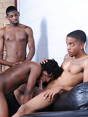 The pile of ebony thugz writhes with pleasure as asses are fucked and cocks are sucked