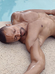 Black muscled man naked