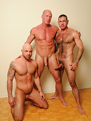 Hot gay threesome with Nick Moretti, Jake Norris and Ben Statham