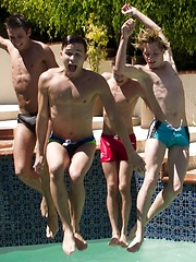 What better way to spend a hot summer afternoon then at a twink pool party