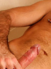 Masculine man likes his straight cock