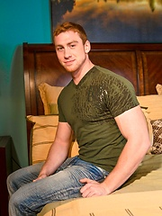 Redhead hot jock Connor Maguire jerks off