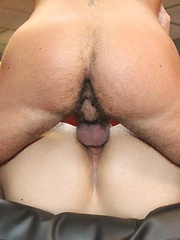 Rock hard gay bodies look so good as the top in a cock ring fucks an ass bareback